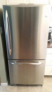 Stainless steel fridge and stove - spotless