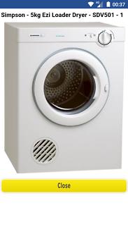 Simpson 5kg clothes dryer