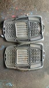 heavy duty car/truck floor mats with deep water/dirt resevoirs