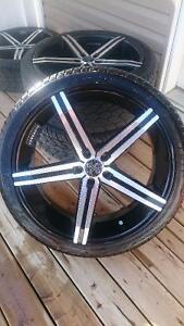 22 inch VERSANTE Rims and Saffiro Tires