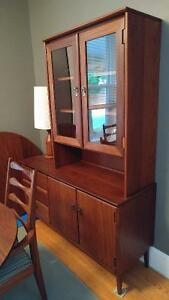 """54"""" Solid Afromosia Buffet and Hutch"""