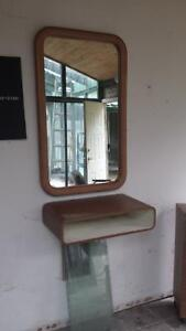 Mirror and floating shelf