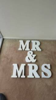 MR and MRS large lettering perfect for wedding