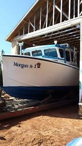 2000 gerald dugay45 x 14-2 wide.  wooden lobster boat  for sale