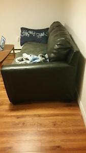 Partly leather sofa - $250