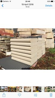 Stone wall capping's bullnose both sides (double bullnosed)