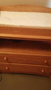 Change table with two  drawer