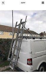 Easy load double ladder rack