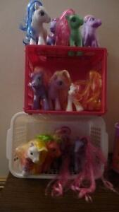 12 My Little Ponies plus accessories