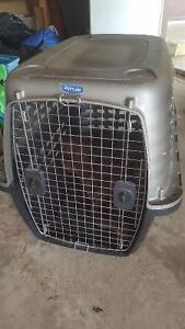 Plastic Crate- Dog Kennel for Medium Sized Dogs