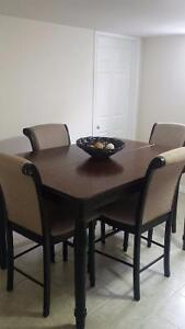 Pub Style Dining Table & 4 Chairs