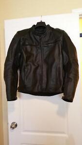 Dainese black leather jacket