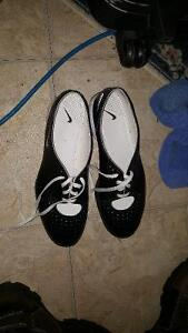 Nike cleats black and white size 9.5