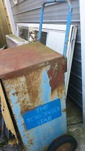 VINTAGE TORONTO STAR WHEELED NEWSPAPER CART