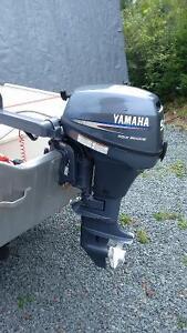 14 foot aluminum boat with 9.9 yamaha galvinized trailer