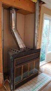 Wood Fireplace insert with Chimney