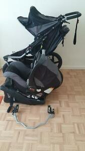 Bob Revolution SE stroller + Britax carseat + carseat adapter