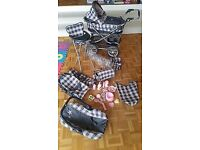 Gorgeous Childrens Silver Cross pram with many accessories