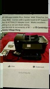 HP printer, Officejet 6500A fax,sca,copy, works excellent