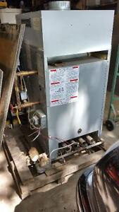 Gas water heater for radiant heating