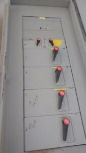 JRS 800 Amp, 600 VAC, 3 Phase distribution panel with 4 x 200 amp fusible disconnects