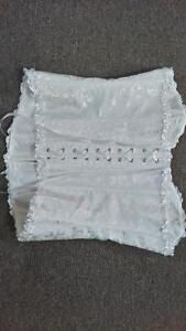 Brand NEW, XL, White Bustier/Corset with White ribbon and snaps