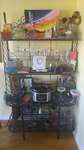 Wrought iron hutch/display case