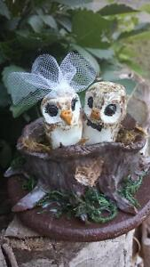 Handcrafted wedding cake toppers