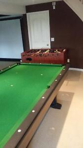 Pool table and Foosball table (together)