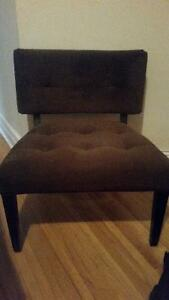 Large Brown Suede chair, Tv stand, IKEA Table + more.