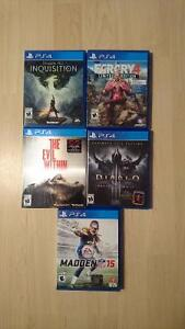 Like New Condition PS4 Games