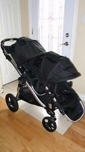 Poussette Baby Jogger, City Select double noire