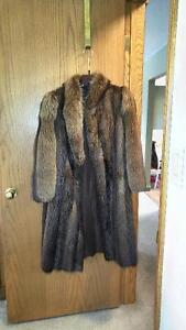 Raccon fur coat