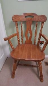 Solid Oak Captains chair in good condition.