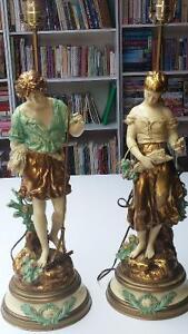 GRANDES LAMPES  SIGNÉES L. et F.  MOREAU