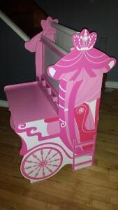 Girls easel with storage bench