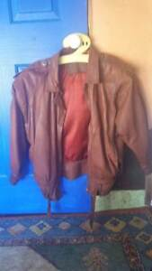leather jacket epaulettes italian brown tan motorcycle Blacktown Blacktown Area Preview