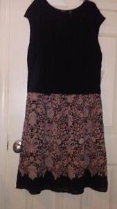 Dex knit dress top woven. New boho print size 1xl