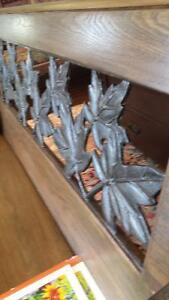 wrought iron  church  pew bench