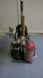 Oxygen/Acetylene tanks and welding torch set