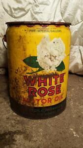 White Rose Oil Barrel