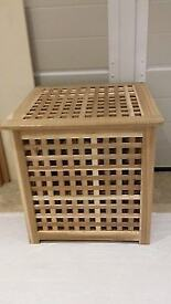 Ikea laundry basket solid wooden
