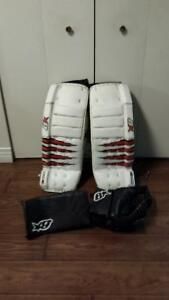 Brians H series Goalie pads, blocker and glove.