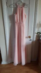 Long Sheer Chiffon Dress - Petal Pink from David's Bridal Kingston Kingston Area image 1