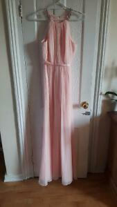 Long Sheer Chiffon Dress - Petal Pink from David's Bridal