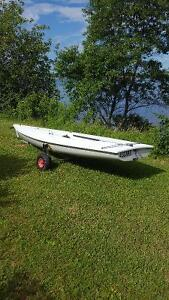 Laser 1 for sale with beach trailer