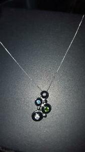Cute Colorful Sterling Silver Necklace