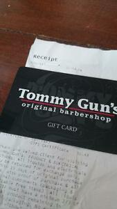 Tommy guns barbershop gift card