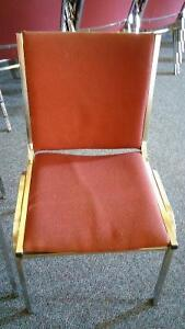 Cloth Stacking Chairs with Metal Frames - Qty 50 - price reduced Cambridge Kitchener Area image 2