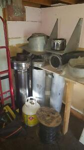 Insulated wood stove pipe